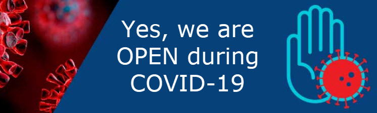 Yes we are OPEN during COVID19